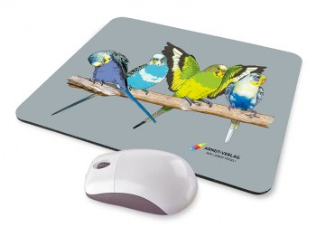 Werbung_Mousepad_Wellensittiche